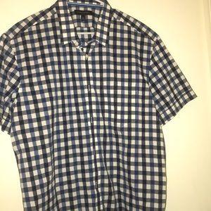 Men's checkered  plaid banana republic shirt XL